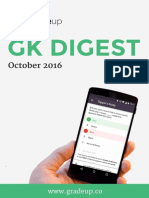 Monthly GK Digest October 2016
