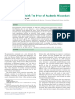 Perioperative Mischief the Price of Academic Misconduct