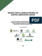 MANUAL PARA EL MANEJO INTEGRAL DE ACEITES LUBRICANTES USADOS