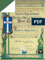 The establishment of the Rosicrucian Order in America (April 1, 1915)