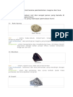 Batuan Beku, Sedimen Dan Metamorf
