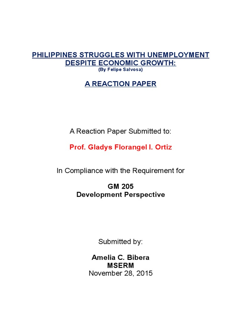 Social protection in case of unemployment in the Philippines