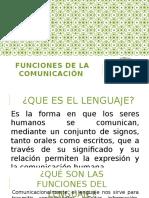Funciones de La Comunicación2016