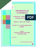 Gráficos (Cultura de Calidad) Nataly Plata- Diana Gladys Martínez