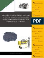 Influencia del carbón antracita pulverizado, en las propiedades físicas y químicas del concreto