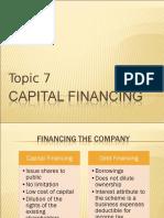 Topic 8 Capital Financing