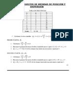 Ejercicios Resueltos de Medidas de Posición y Dispersión