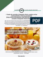 1 Tazón de cereales integrales diario, podría evitar enfermedades crónicas (Artículo) | El Oso Panda