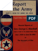 WWII Army Infantry Report