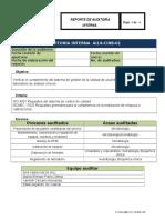 Reporte Auditoría Interna