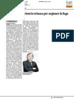 Il professor Burioni in trincea per arginare la fuga dai vaccini - Il Corriere Adriatico del 6 dicembre 2016