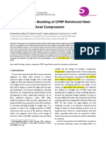 Nonlinear Elastic Buckling of CFRP Reinforced Steel Cylinders Under Axial Compression