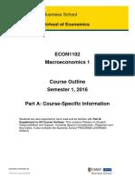 ECON1102 Macroeconomics 1 PartA S12016