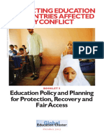 5 - Education Policy and Planning for Protection, Recovery and Fair Access