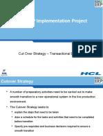 Cutoverstrategy BSNL HCL