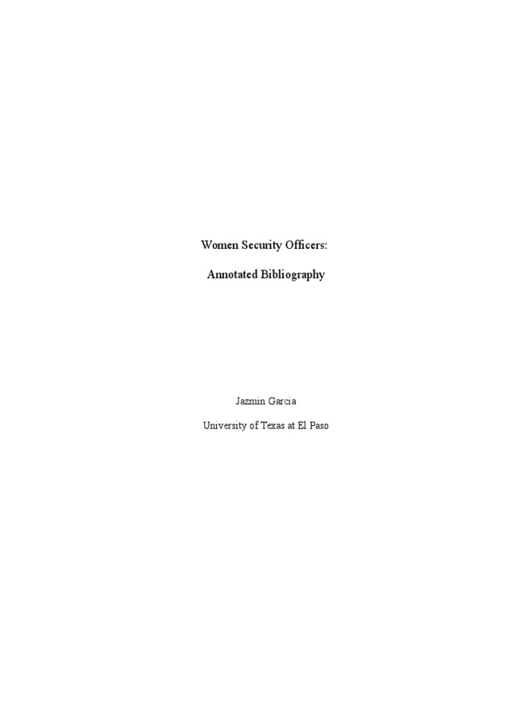 Annotated bibliography on gender inequality essay