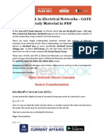 KCL and KVL in Electrical Networks - GATE Study Material in PDF