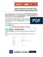 Source Transformation & Reciprocity Theorem - GATE Study Material in PDF