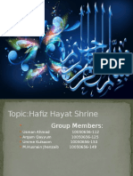Slides on the Project of Hafiz Hayat Shrine