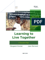 Learning To Live Together Discussion Paper