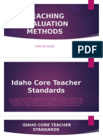 teaching evaluation methods