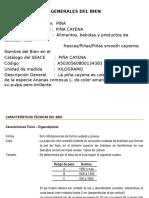 Ficha Tecnica de La Piña