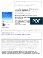 Building Collaborative Construction Skills through BIM-integrated Learning Environment