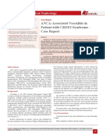 ANCA-Associated Vasculitis in Patient with CREST-Syndrome - Case Report