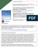Implementing a Vertically Integrated BIM Curriculum in an Undergraduate Construction Management Program