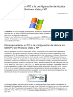 Como Restaurar Un Pc a La Configuracion de Fabrica Sin CD Dvd de Windows Vista y Xp 2975 Nyt4qb