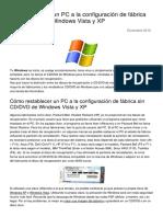 Como Restaurar Un Pc a La Configuracion de Fabrica Sin CD Dvd de Windows Vista y Xp 2975 Nyt4qb