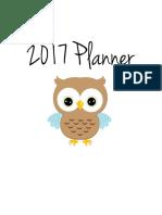2017 Planner - FREE