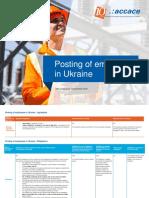 Posting/Secondment of Employees in Ukraine
