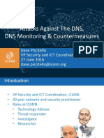 Attacks Against the DNS Monitoring & Countermeasures