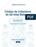 Codigo de Urbanismo de Las Islas Baleares Marzo 2016