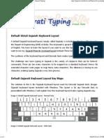 Shruti Font - Gujarati Typing