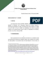 Resolucion FG 218 Del 2009