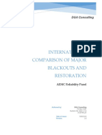 DGA Consulting International Comparison of Major Blackouts and Restorat
