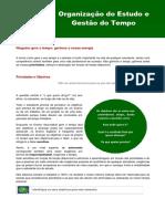 Manual Organizar Estudo & Gerir Tempo