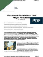 Urbact.eu Welcome Rotterdam %E2%80%93 Mayor Aboutaleb