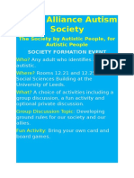 Leeds Alliance Autism Society