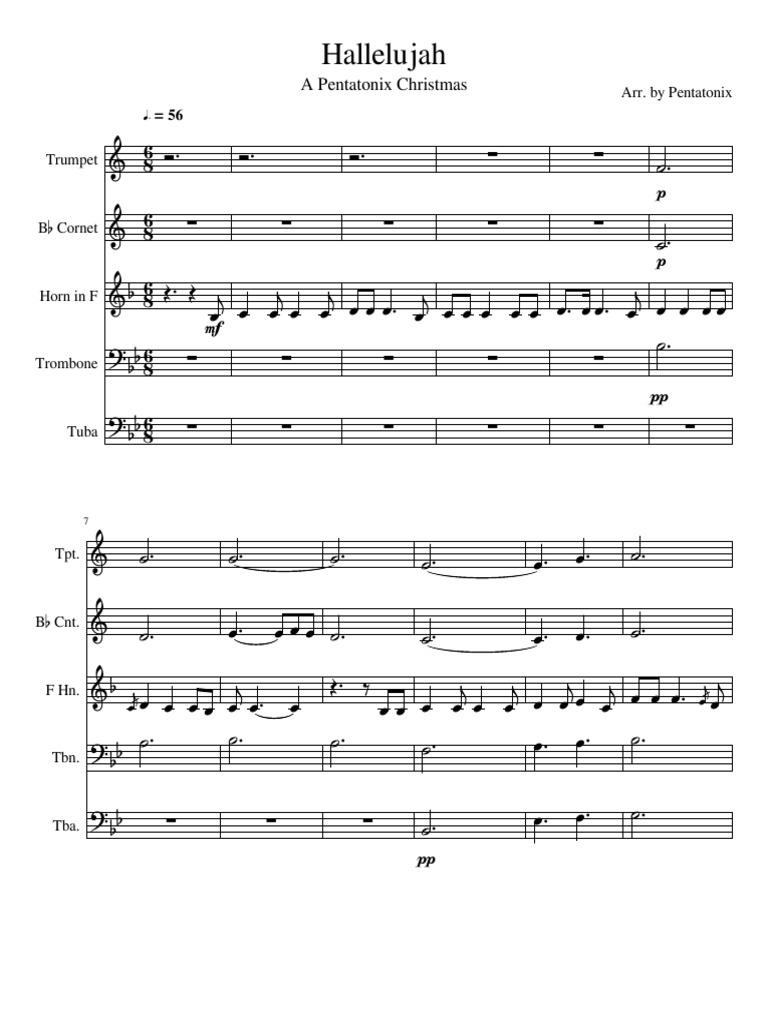 Text Hallelujah Pentatonix