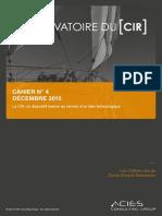 Observatoire du CIR, décembre 2015