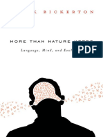 More Than Nature Needs Language, Mind, And Evolution