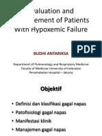 Evaluasi Managemen Pasien Dengan Kegagalan Hipoksemia