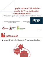 Uma Investigação sobre as Dificuldades de Planejamento de TI em Instituições Públicas Brasileiras