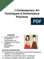 3Different Contemporary Art Techniques _ Performance Practices