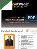 Faith Based Millionaire Mindset Slides