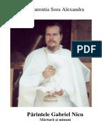 Parintele Gabriel Nicu. Marturii Si Minuni