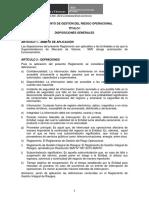 Reglamento de Gestión Del Riesgo Operacional SMV